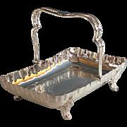 Walker & Hall Silverplate Bride's Basket Sheffield Silver Plate
