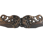 SOLD Antique Architectural Element/Overdoor Hand Carved Wood Fish