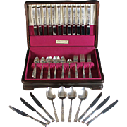 Oneida Community Morning Star Silver Plated Flatware, 99 pieces silverplate 1948