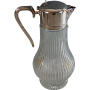 Crystal and Silverplate Claret Jug Wine Decanter Silver Plate