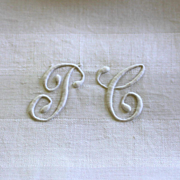 SOLD Antique French Monogrammed Napkins P C Set of 8 Lapkins