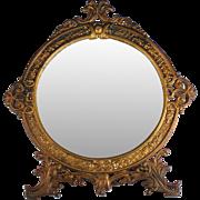Large Antique Art Nouveau Gilt Mirror