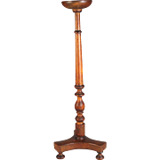 Antique French Wood Wooden Hat Stand Tall