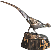 French Art Deco Bronze Sculpture 1930s of a Pheasant by Irenee Rochard (1906-1984)