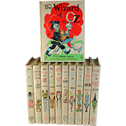 Wizard of Oz Books Set of 11 Frank L Baum White Edition