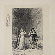 Beautiful Small Engraving by Francois Lalaisse 2