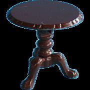 Vintage Miniature Doll House Enamel Metal Tilt Top Table - Mattel