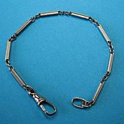 Vintage Art Deco Silver Plated Bracelet Textured Bars 1920s-1930s