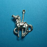 Vintage Sterling Carousel Horse Charm