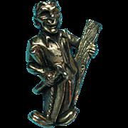 Vintage Figural 1930s Carpenter Brooch Lapel Or Tie Pin