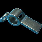 Vintage Sterling English c1920 Whistle Charm Pendant