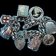 SOLD Vintage Georg Jensen Singed Sterling Silver Charm Bracelet Rare