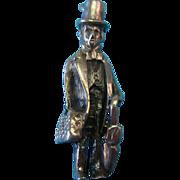Vintage 1940s Sterling Silver Rare Gentleman Doctor Charm