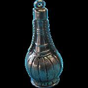 Vintage Silver Chianti Puffy Wine Bottle Charm