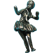 Vintage Sterling Silver Scarce Hawaiian Hula Dancer Charm