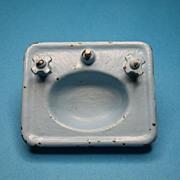 Vintage Arcade Doll House Porcelain Blue Sink