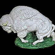 Italian Pottery White Buffalo