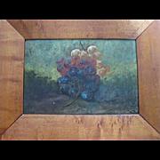 C.P. Ream Oil on Board Grapes 1838-1917