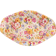 Vintage 1930's Lord Nelson Chintz Nut Dish Marigold Pattern