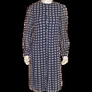 REDUCED Vintage 1960's Oscar De La Renta Navy and White Dress