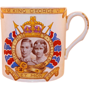 REDUCED Shelley England King George VI & and Elizabeth 1937 Coronation Cup