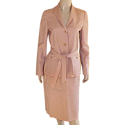 REDUCED Vintage 1970's Halston Sportswear Jacket & Skirt Suit Dusty Peach