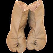 REDUCED Vintage 1940's Japanese Tabi Slippers Socks