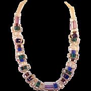 Vintage Cased Art Glass Necklace
