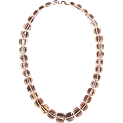 Art Deco Rock Crystal Square Cut Necklace