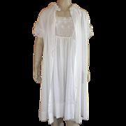 Vintage White  Peignoir Set By Iris