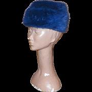 Vintage Miss Alice Blue Dyed Mink Hat