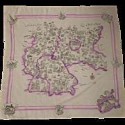 Vintage World War II Germany Silk Scarf 1939-1945