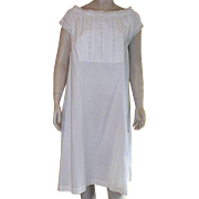 Victorian White Cotton Nightgown With Eyelet Details