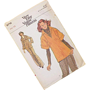 Vintage 1970's Vogue Pattern For Top and Pants Uncut