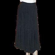 Vintage 1980's Mondi Black Tiered Prairie Skirt With Huge Sweep XS