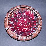 REDUCED Czech Coronet Registered Mottled  Art Pottery Bowl