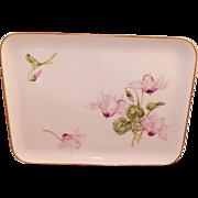 REDUCED Vintage Royal Copenhagen Hand Painted Floral Dresser Tray
