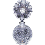 REDUCED Vintage Heavy Cut Crystal Perfume Bottle With Stopper