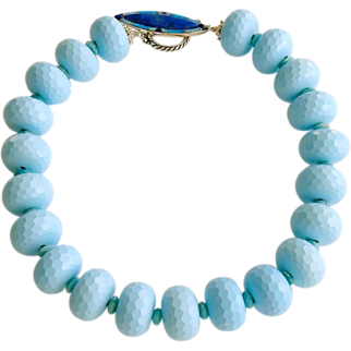 Reconstituted Turquoise Russian Amazonite Lapis Opal Choker Necklace - Cybill Necklace