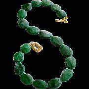 Maw Sit Sit Columbian Emerald Choker Necklace - Mayra Necklace