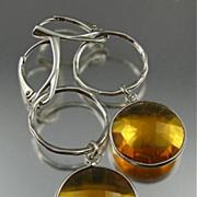SOLD Earrings ~ Lollipops:  BUTTER RUM ~ Cognac Quartz & Sterling Silver
