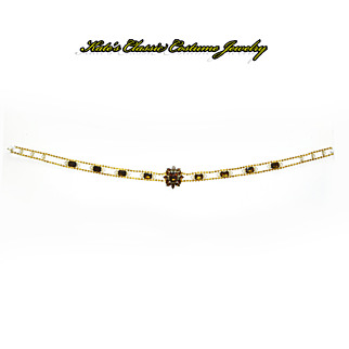 Delizza & Elster Juliana Verified Belt/Necklace-- faux Topaz Rhinestones