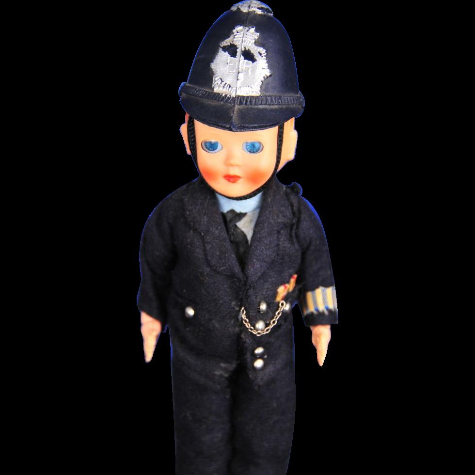 Celluloid British Bobby Policeman Doll