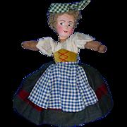 "SOLD 1940s Vintage Ethnic 15"" European TOPSY TURVY Doll"