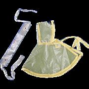 SALE Vintage 1950s Ginny ~ Rain Poncho & Rain Bonnet