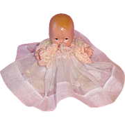 "Large 4 3/4"" Nancy Ann Storybook BABY With Starfish Hands"