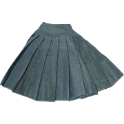 """Vintage 1950s Vogue 10"""" JILL Gray Pleated Skirt"""