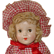 """Vintage 18"""" Composition Unmarked Mama Doll ~ All Original"""