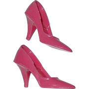Rare Vintage Barbie Closed Toe Japan ROSE Pink Heels ~ Garden Wedding