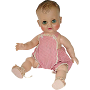 "1950s Madame Alexander Vinyl 12"" Baby Doll KATHY With Original Outfit"